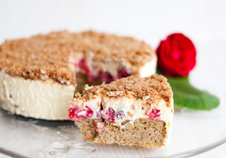 Lowcarb Himbeer Vanille Kuchen Mit Kokoskruste Low Carb Kostlichkeiten