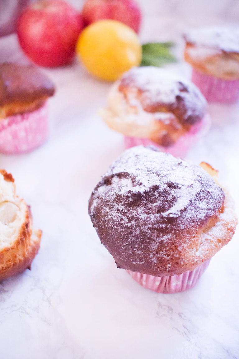 Köstliche Apfel Zitronen Muffins Low Carb Glutenfrei Im Brioche